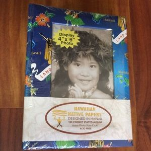 120 pocket Hawaiian patterned photo album